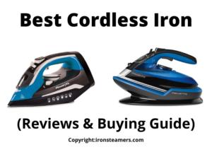 best cordless steam iron