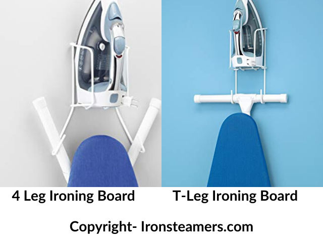 Different types of ironing board with hanger
