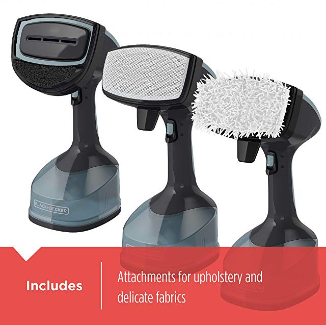 BLACK+DECKER Advanced Handheld Garment Fabric Steamer Attachments