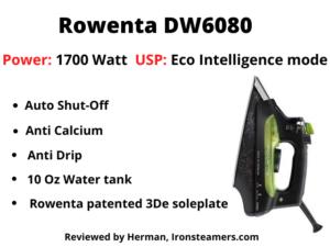 Rowenta DW6080 Eco-Intelligence 1700-Watt Steam Iron Review