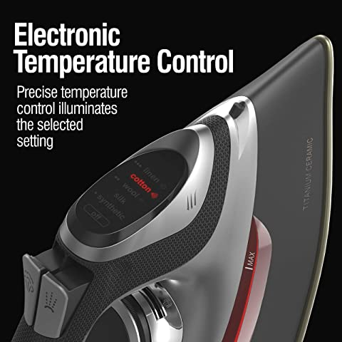 Chi Retractable Cord Iron with Electronic Temperature Control