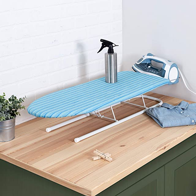 Honey-Can-Do Tabletop Ironing Board with Iron Rest